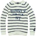 Nicos Stripes Milk_Indigo
