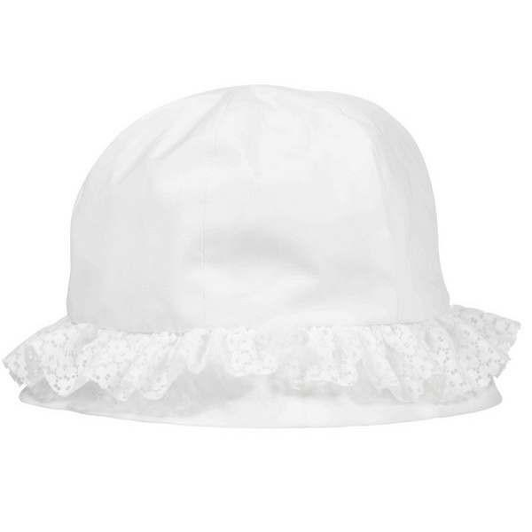Girls hat lace volant heavy white