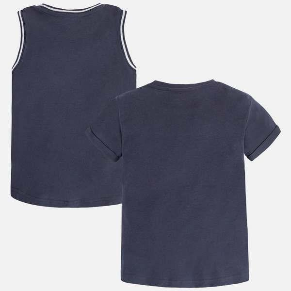 2-pack s/s t-shirt/ tanktop blue graphite