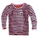 Mindy longsleeve royal blue/popping pink/stripes