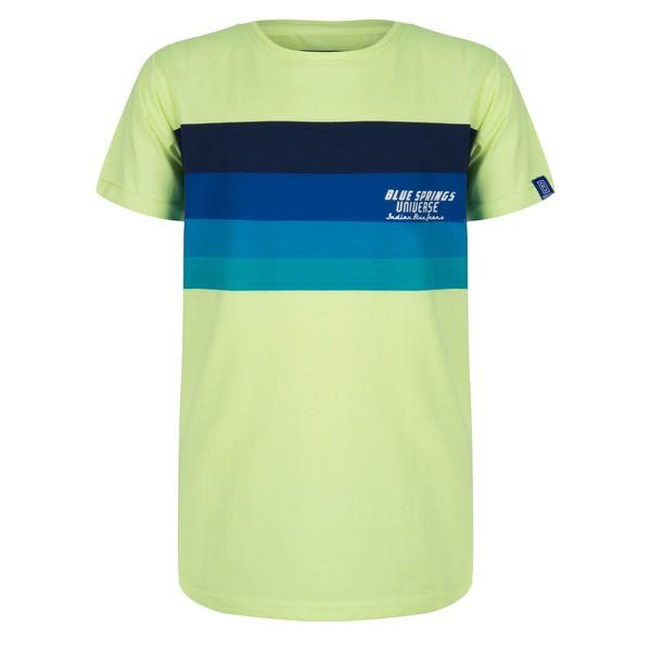 T-SHIRT SS RAINBOW UNIVERSE lime