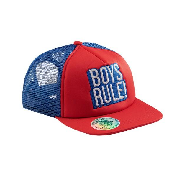 Gijs cap Red pepper/Brilliant blue