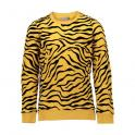 Sweat bi-color tiger print corn/black