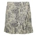 Skirt printed crinkle beige/black
