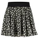 Pearl Skirt black flower print