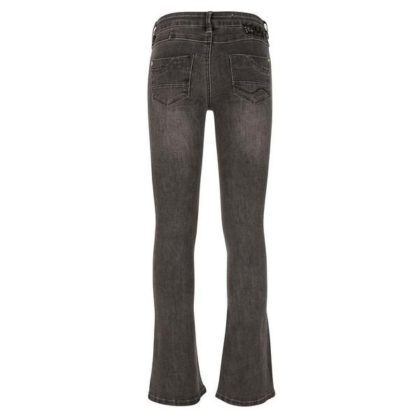 GREY LOLA FLARE FIT dark grey denim